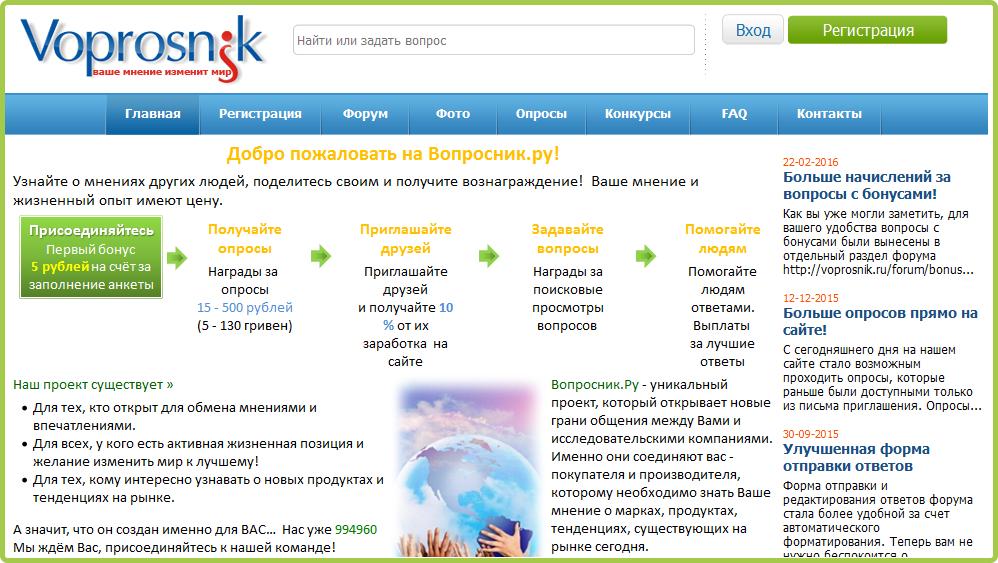 Сайт Voprosik